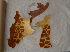 Betty's Giraffe using no-sew applique