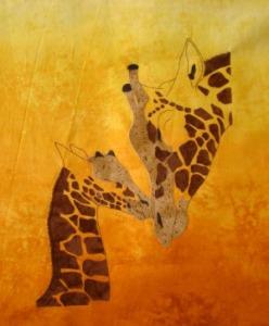 RobynsPatch giraffe has eyes yet to be appliquéd.
