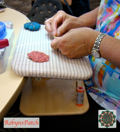 Val Lewis's hand applique laptop work table