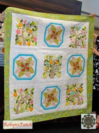 Applique quilt by Sue Cheney